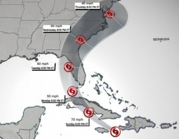 Tormenta tropical Elsa ta den yega Cuba