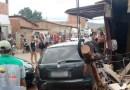 BARREIRAS: MOTORISTA PERDE O CONTROLE E PROVOCA ACIDENTE NO BAIRRO SANTA LUZIA