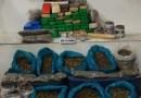 Bahia :Grande quantidade de drogas encontrada pelo Esquadrão Falcão