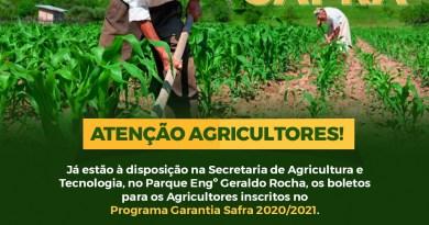 Agricultores cadastrados do Programa Garantia Safra devem retirar os boletos na Secretaria de Agricultura de Barreiras