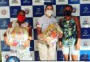 Base comunitária da Policia Militar do Bairro Santa Luzia entrega cestas básicas a comunidade