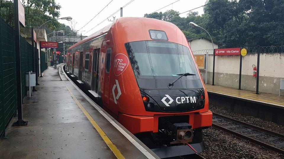 trem caf 8500 cptm trens obras manutenção de trilhos Linha 7-Rubi