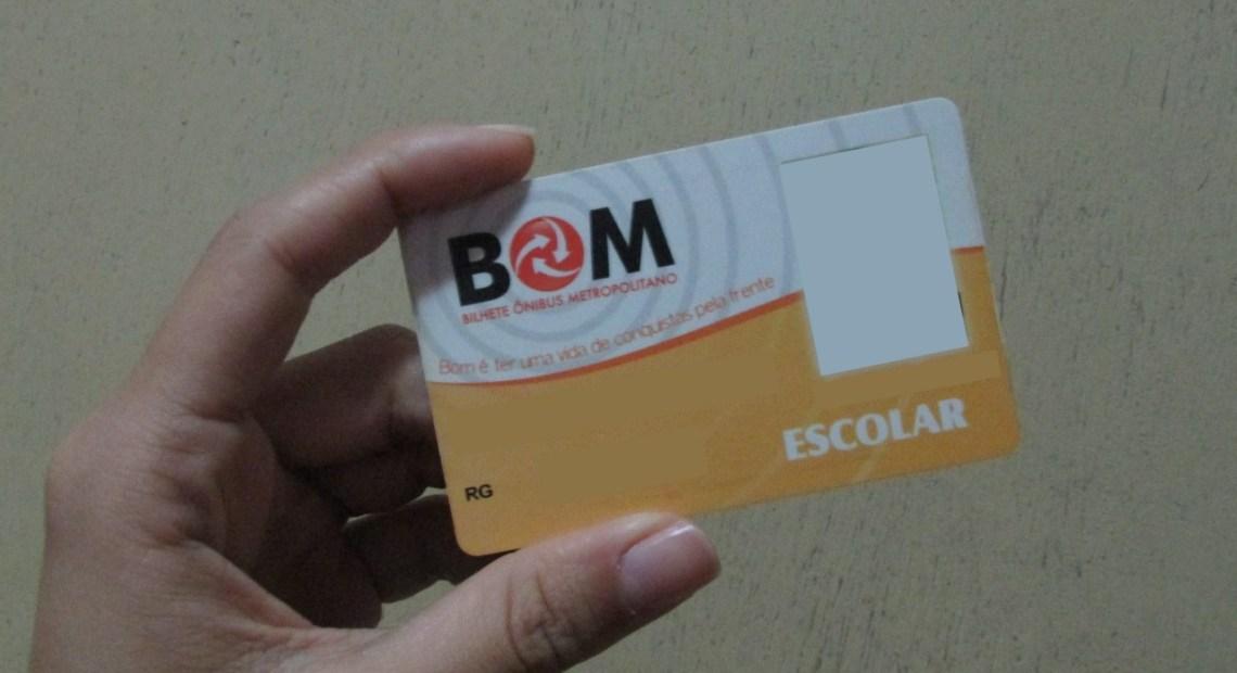 Cartão BOM Escolar Passe Livre
