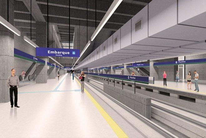 Estação Penha da linha 2
