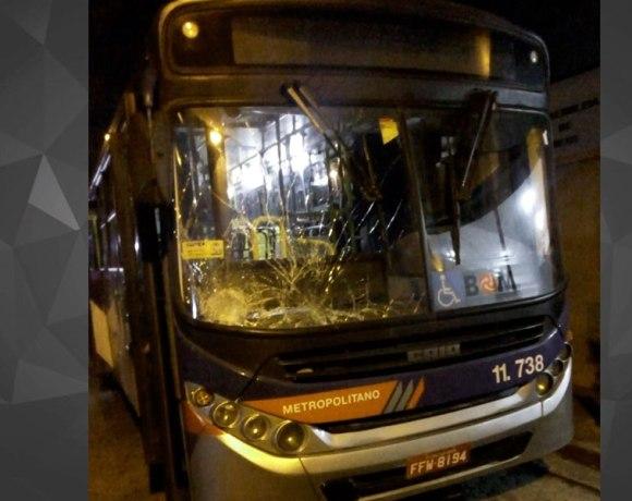 ônibus batido da emtu