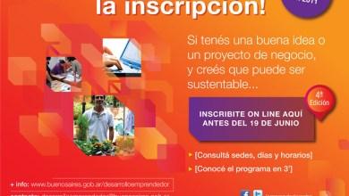 Photo of Si querés empezar un proyecto podés inscribirte en 'Desarrollo emprendedor'