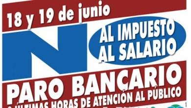 Photo of BANCOS: PARO NACIONAL EL 18 Y 19