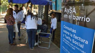 Photo of AySA en el barrio para acceder a la tarifa social