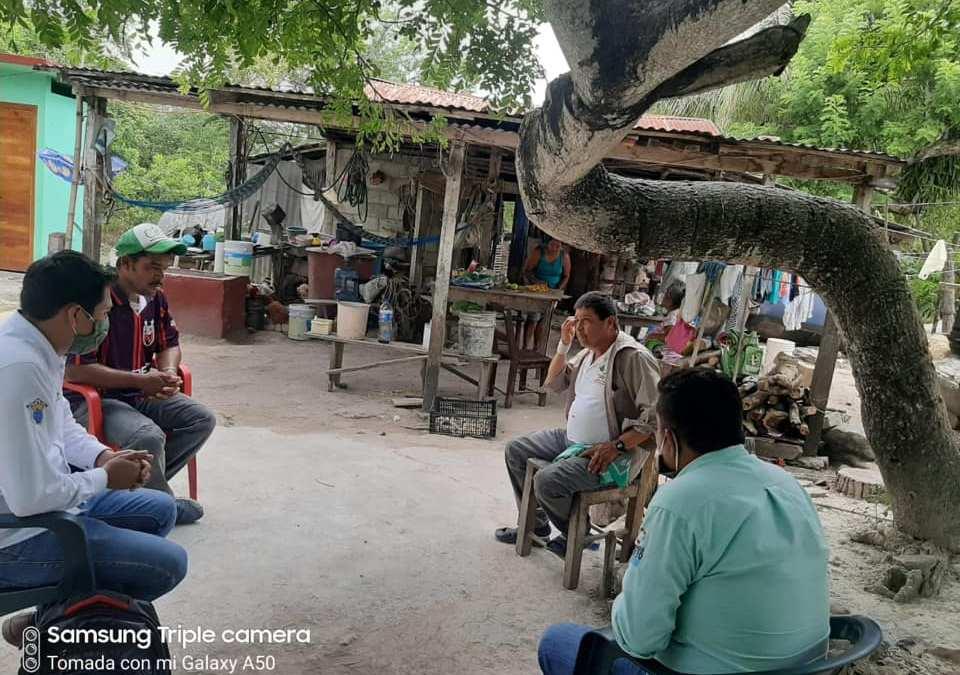 Realizan visitas comunitarias para continuar dispersando apoyos a los Tamiahuenses.
