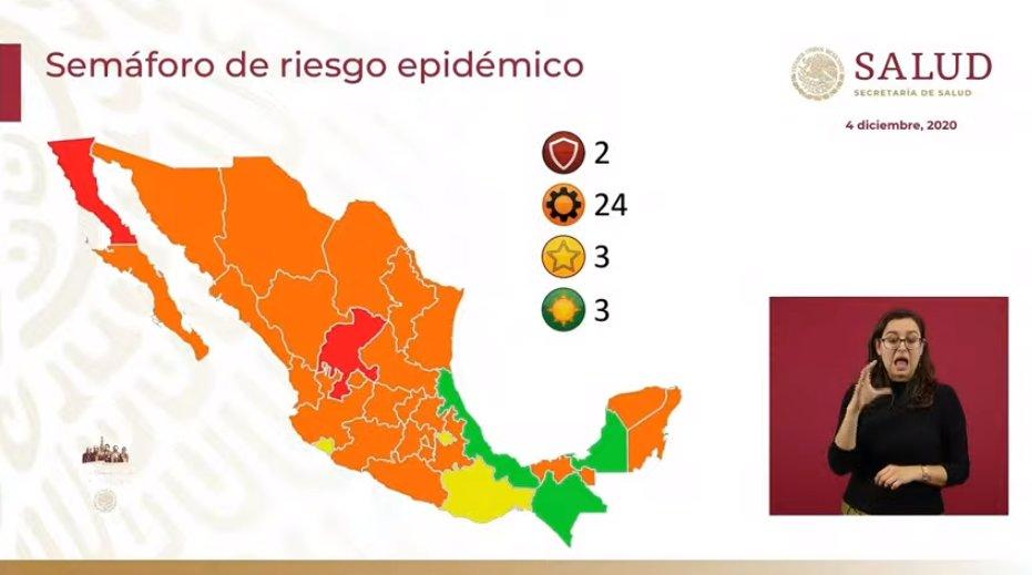 Pide gobernador «no confiarnos», ante cambio de color en semáforo epidemiológico nacional