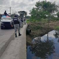 Cuerpo sin vida encontrado en canal de aguas negras de Tuxpan