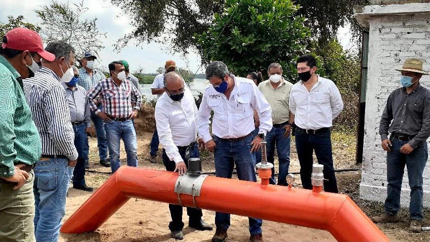 Conagua rehabilita, tecnifica y equipa unidades de riego del norte de Veracruz