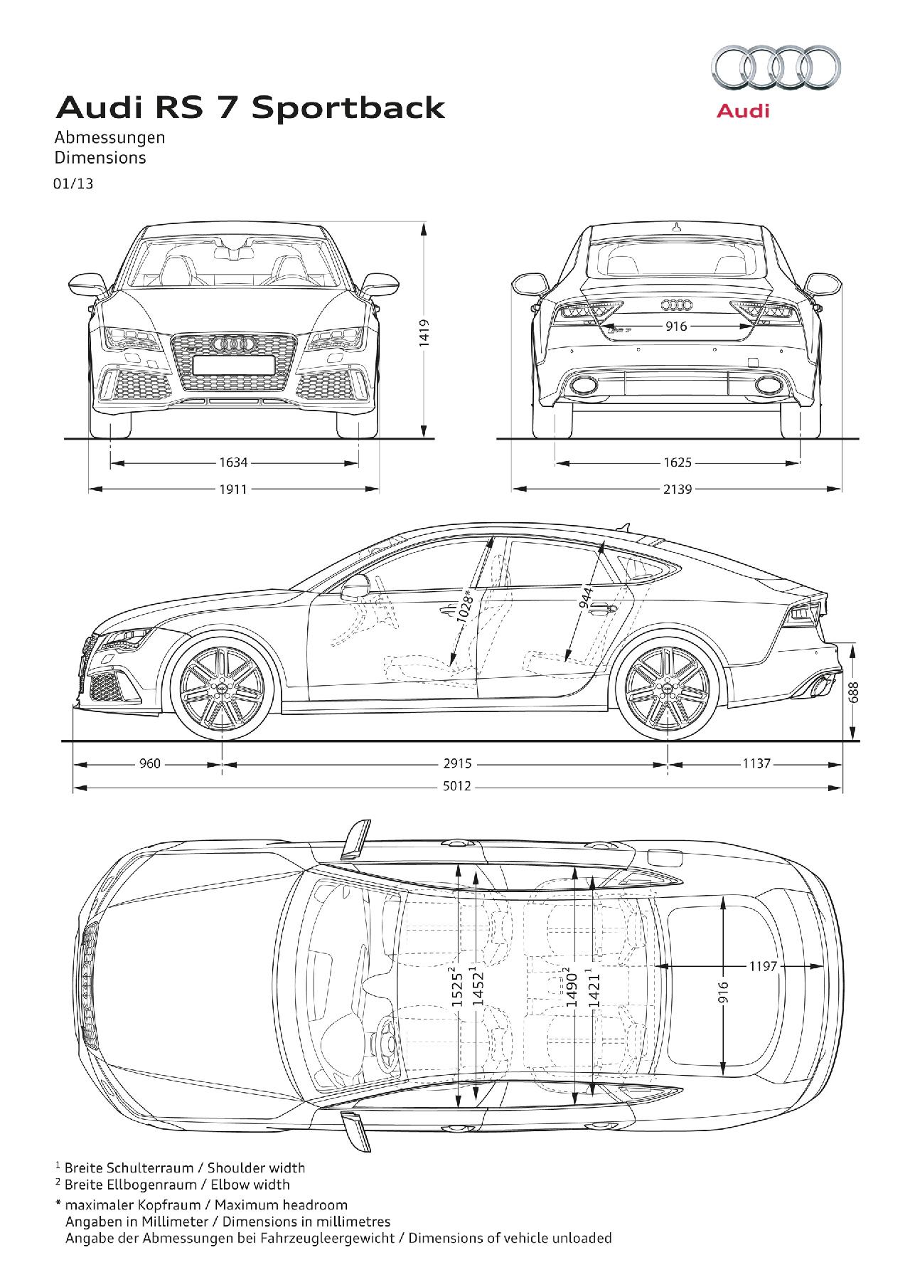 Nuevo Audi Rs7 Sportback Debut En Detroit