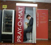"""Templo automático: """"igreja de autoatendimento"""" para várias religiões é instalada na Inglaterra"""