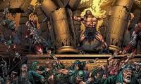 Cena que retrata a vingança de Sansão contra os filisteus