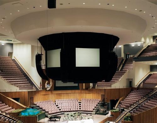 Alta tecnologia e arquitetura semelhante a um ginásio foram destacadas por Johnson na foto da megaigreja em Louisville, Kentucky