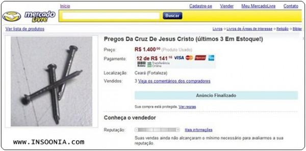 leilao pregos cruz