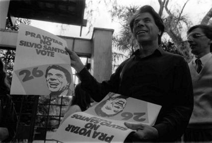 Silvio Santos em 1989, antes de desistir de ser candidato a presidente