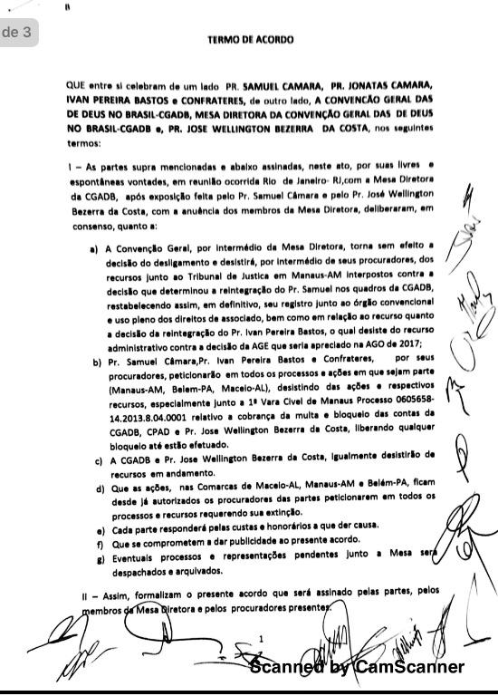 acordo de paz cgadb samuel camara