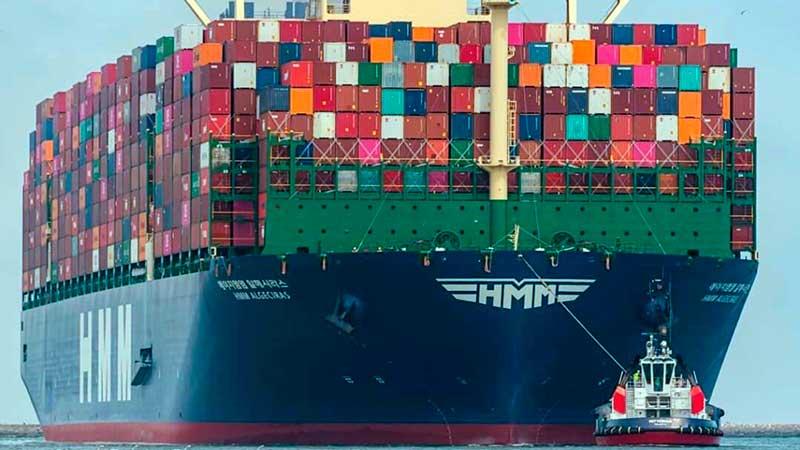 1. HMM Algeciras (construido en 2020). TEU máximo: 23.964. (De estas características hay siete barcos).