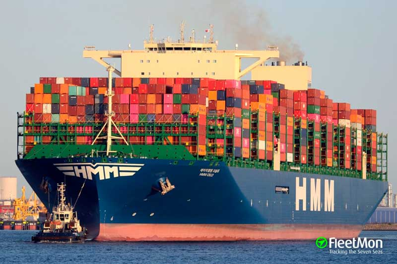 2. HMM Oslo (2020). TEU máximo: 23.820 (De estas características hay cinco barcos).
