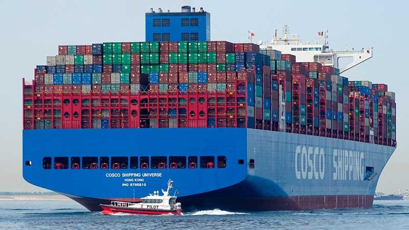 7. COSCO Shipping Universe (2018). TEU máximo: 21.237 (De estas características hay seis barcos).