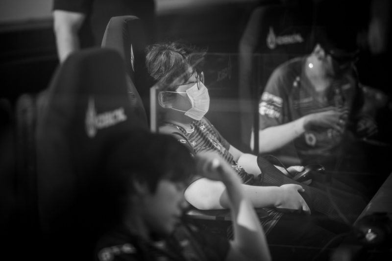 Photo of South Copre's Yuri and Croc in the final of CBLOL 2021 by Rensga