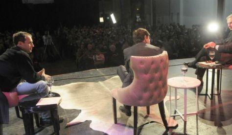 Ernesto Tenenbaum y Marcelo Longobardi entrevistaron a Jorge Fontevecchia a sala llena.