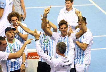 Del Potro le ganó a Cilic y Delbonis puso la victoria final.