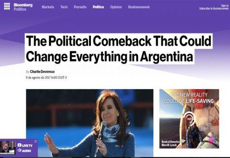 Argentina tras las PASO en el análisis de Bloomberg.