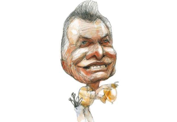 Mauricio Macri. Ilustración Pablo Temes