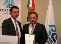 Jesús Padilla Zenteno, presidente de la COPARMEX-CDMX y el Manager City, Jaime Slomiansky Aguilar.