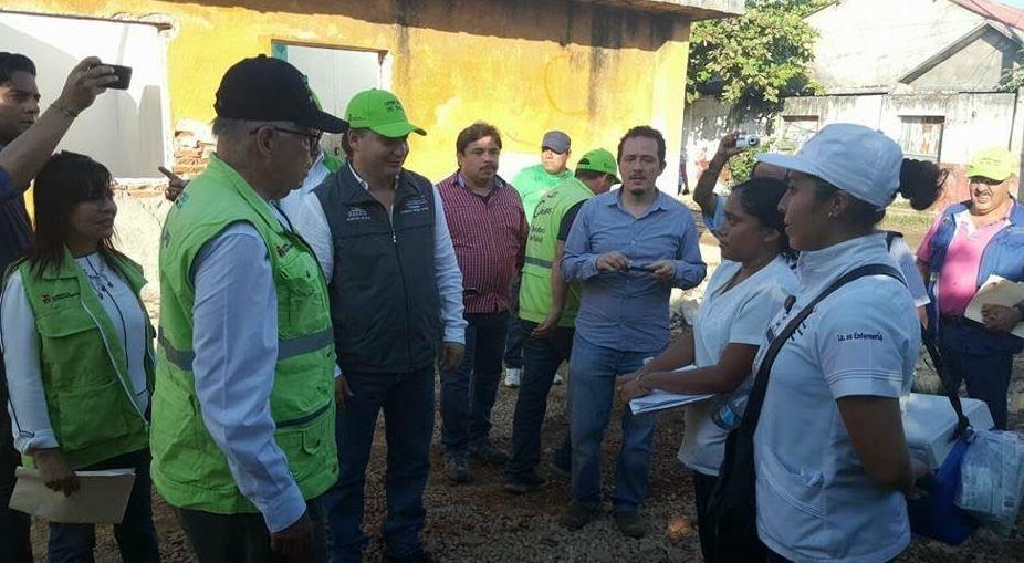 Recorren Secretarios de Salud Federal y Estatal zonas afectadas por el sismo en Paredón 5