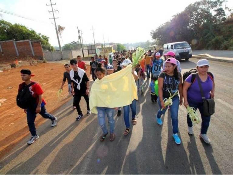 Migrantes avanzan por Chiapas 1