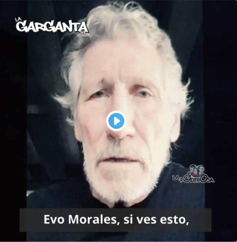 Roger Waters envía mensaje a Evo Morales 1