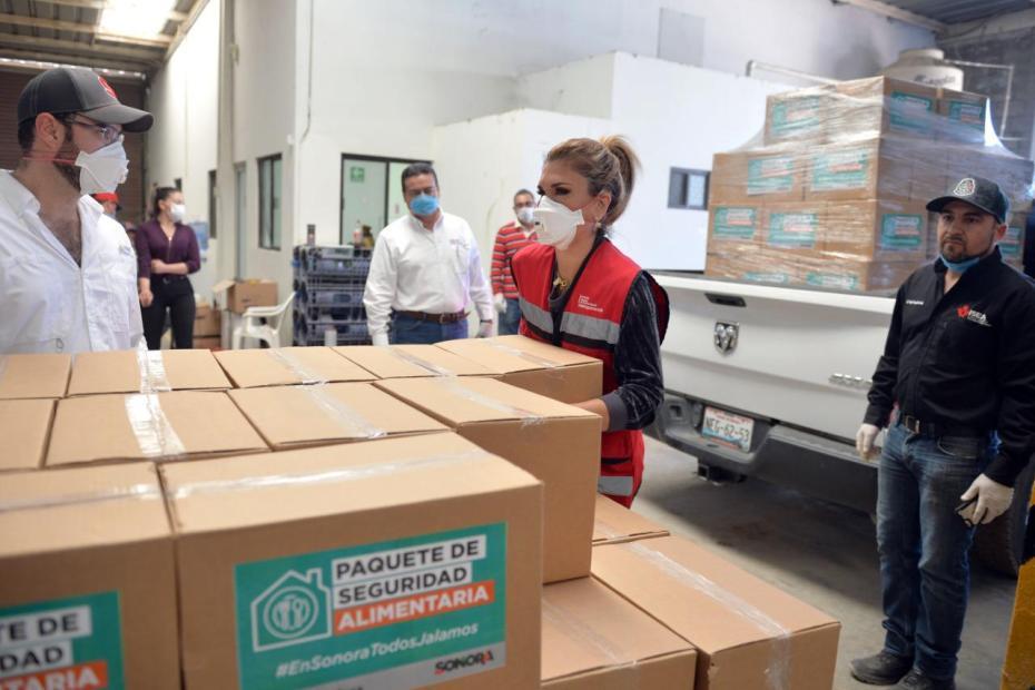 Inicia Claudia Pavlovich entrega de apoyo en Sonora  con Paquetes de Seguridad Alimentaria 1