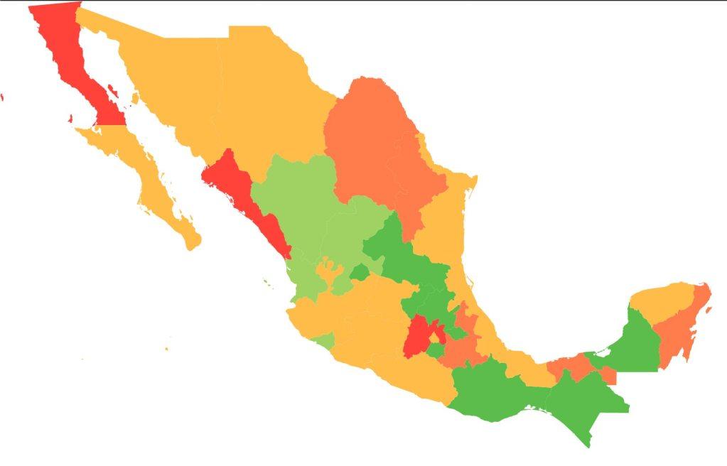#COVID19 en México, casos positivos y defunciones por estado al 20 de abril 2020 2