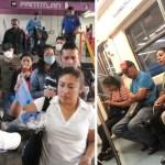 Usuarios del metro no cumplen con el uso obligatorio de cubrebocas 5