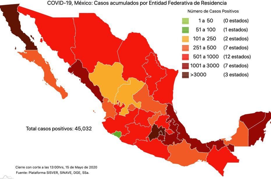 #COVID19 en México 15 de mayo 2020, casos defunciones y tasa de incidencia nacional y por estado 1