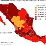#COVID19 en México 21 de mayo 2020, casos defunciones, activos y tasa de incidencia nacional y por estado 5