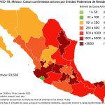 COVID19 en México 18 de junio 2020, casos defunciones, activos y tasa de incidencia nacional y por estado 5