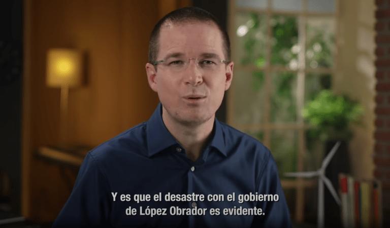 «El desastre con el gobierno de López Obrador es evidente»: Anaya en su regreso a la vida pública