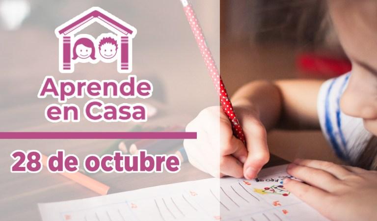 Clases y materiales de Aprende en Casa – 28 de octubre