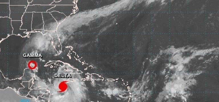 Delta cambia de trayectoria: tocaría tierra en Quintana Roo como un huracán de categoría 4