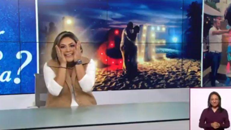 Critican a Canal Once por transmitir la propuesta de matrimonio a una de sus conductoras de noticias 1