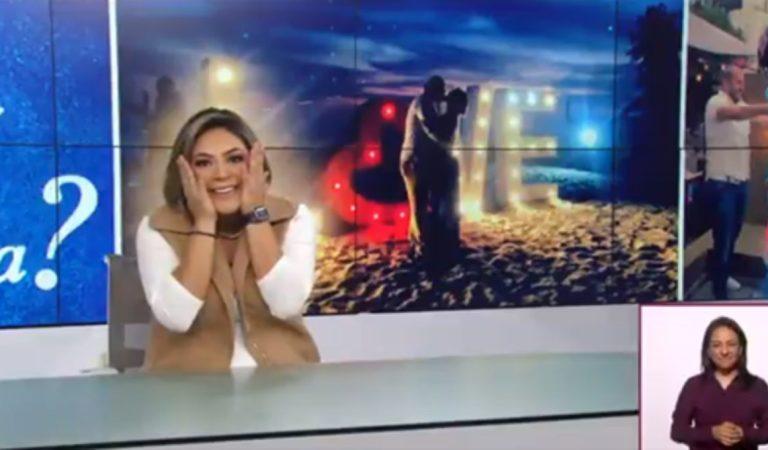 Critican a Canal Once por transmitir la propuesta de matrimonio a una de sus conductoras de noticias