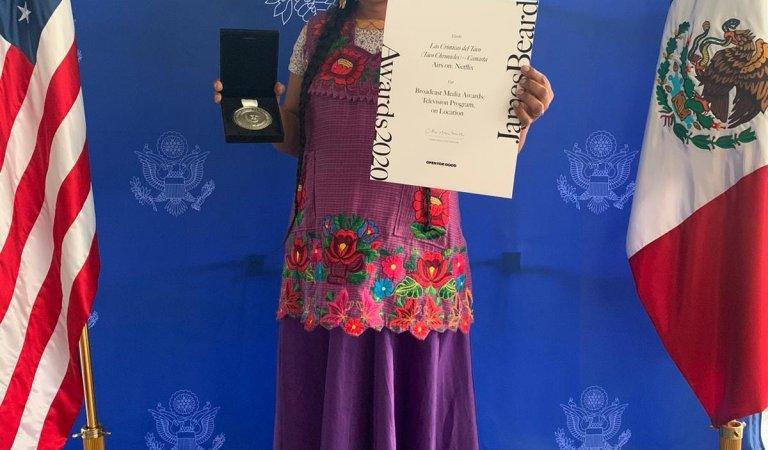 Lady Tacos de Canasta fue reconocida con el premio James Beard, por su participación en Las crónicas del Taco, serie de Netflix