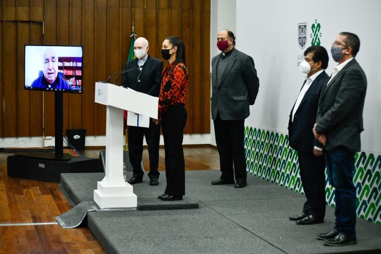 Anuncian Gobierno capitalino y autoridades eclesiásticas celebración a distancia para el 11 y 12 de... 1