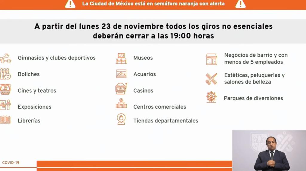 CDMX al límite del semáforo epidemiológico naranja; reducen horario a negocios no esenciales 7