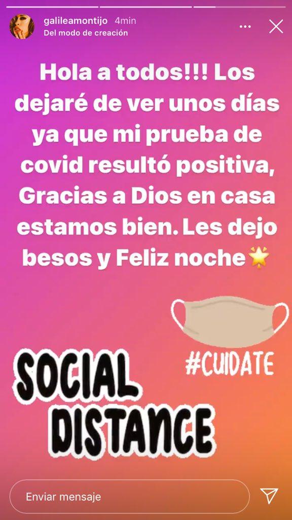 Galilea Montijo da positivo a Covid-19 y así reaccionan en  redes sociales 4